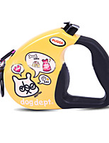Dog Leash Adjustable/Retractable Cartoon White / Yellow Nylon