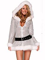Santa Anzüge Fest/Feiertage Halloween Kostüme Silber einfarbig Kleid Weihnachten Terylen