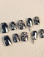 ногтей полосы скелет крест 24pcs кулон панк-моды стиль / комплект