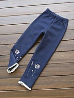 Girl's Casual/Daily Embroidered Pants,Cotton Winter / Spring / Fall Black / Blue