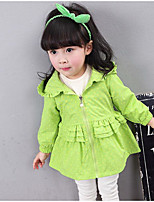 Girl's Casual/Daily Polka Dot Suit & BlazerCotton Spring / Fall Green / Pink / Yellow