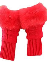 девочек осенние и зимние милые перчатки (красный пачка из двух пар)