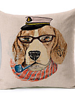Polyester Decorative Cushion Pillow Cover Print Animal Dog Sofa Home Decor 45x45cm