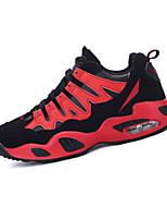 Herren-Sneaker-Sportlich-PU-Flacher Absatz-Komfort-Blau Rot Weiß
