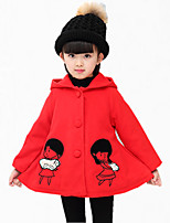 Girl's Casual/Daily Embroidered Down & Cotton Padded,Polyester Winter / Spring / Fall Pink / Red / Yellow / Gray