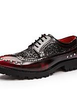 Черный / Бордовый-Мужской-На каждый день-КожаOthers-Туфли на шнуровке