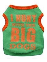Cute I Hunt with the Big Dog Cotton Dog Vest for Pets