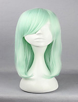 Anime Harajuku Lolita Cosplay Wigs 45cm Long Straight Hair Haircut Light Green Cosplay Wig Fashion Hairstyles