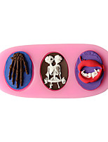 1PC Halloween Bread Mold Baking Mold Cake Mold 3D Liquid Silicone Random Color