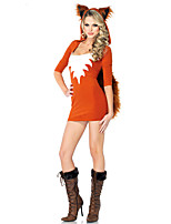 Cosplay Costumes Animal Movie Cosplay Orange Solid Dress Halloween / Carnival Female Polyester