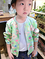 Girl's Casual/Daily Floral Suit & BlazerCotton Spring / Fall Green / Gray