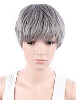 длинные волнистые волосы парик с челкой-коричневого цвета синтетические парики для женщин