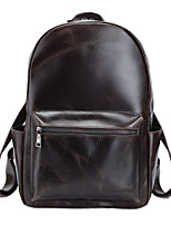 Casual Outdoor Office & Career Shopping Backpack Unisex Cowhide Brown