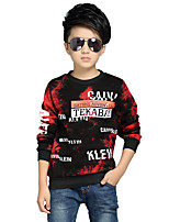 Boy's Fashion Round Neck Casual Letter Print Fleece Lining Thick Blouse Hoodie & Sweatshirt