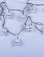 1pc ted décoration fournitures citrouille d'Halloween maison hantée lampe de nuit bar ktv squelette fantôme tête lanternes à cordes