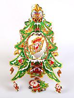 criativas de madeira decorações da árvore de Natal tridimensional ornamento modelo de desktop