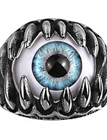 Ring AAA Cubic Zirconia Skull Halloween Wedding Party Daily Casual Sports Jewelry Steel Men Ring 1pc,8 9 10 11 Silver