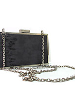 Ladies PU Vintage Small Evening Box Clutch with Chain