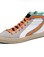 Оранжевый-Женский-На каждый день-Замша-На плоской подошве-Удобная обувь-Кеды