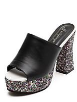 Women's Boots Fall / Winter Comfort PU Casual Flat Heel Slip-on Black / Brown Others