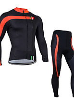 Sports Cycling Jersey with Long Pants Men's Long Sleeve Bike Breathable / Quick Dry / Anatomic Design / Front Zipper / 3D PadClothing