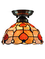 8 inch Retro Tiffany Ceiling Lamp /Shell Shade Flush Mount Living Room  Bedroom Dining Room Kids Room light Fixture