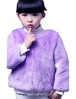 Girl's Casual/Daily Solid Suit & BlazerRabbit Fur Winter Purple