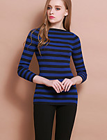 XuanFeiLu Women's Round Neck Long Sleeve Sweater & Cardigan Royal Blue-Q-607