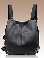 Women Cowhide Casual / Office & Career Backpack Black