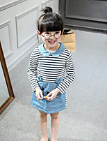 Girl's Casual/Daily Striped DressCotton Spring / Fall Blue