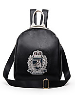 Casual Backpack Women PU Gold Silver