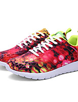 Women's Sneakers Spring / Fall Comfort PU Casual Flat Heel Others / Lace-up Blue / Green / Gray Walking
