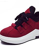 Черный / Красный / Серый-Женский-Для прогулок / Для занятий спортом-Полиуретан-На плоской подошве-Удобная обувь-Кеды