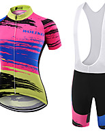 WOLFKEI Summer Cycling Jersey Short Sleeves BIB Shorts Ropa Ciclismo Cycling Clothing Suits #34