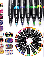 1Pcs Nail Art Kits Nail Art 3D Nail Painting Pen Dotted Pen Painting Flowers Pen Manicure Tool Kit  Makeup Cosmetic Nail Art DIY
