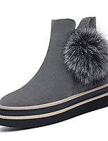Women's Boots Winter Platform Leather Office & Career Dress Casual Platform Others Black Gray Other