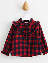 Girl Casual/Daily Solid Shirt,Cotton Winter / Fall