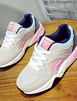 Women's Sneakers Spring Fall Comfort Tulle Casual Blue Pink Gray