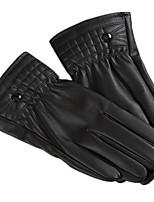 мужские полные промытого кожа сенсорный экран перчатки (мужчины моют сенсорный экран)