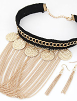 Jewelry 1 Necklace 1 Pair of Earrings Party Daily 1set Women Gold Silver Wedding Gifts