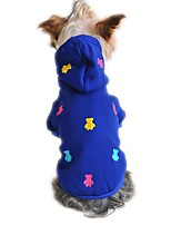 Cat / Dog Hoodie / Pajamas Red / Yellow / Blue / Gray Dog Clothes Winter / Spring/Fall Bear Cute / Casual/Daily