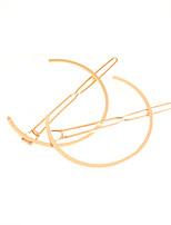 Women's Simple Moon Shape Hairpin Fashion Geometric Semicircular Metal Unique Design Hair Accessories  1 Piece