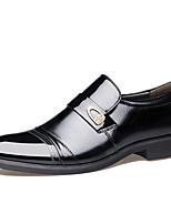 Черный Коричневый-Для мужчин-Для офиса Повседневный Для вечеринки / ужина-Микроволокно-На плоской подошве-Удобная обувь Светодиодные