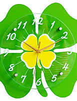 Modern/Contemporary Houses Wall Clock,Others Glass / Wood 34*34CM Indoor Clock
