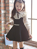 Girl Casual/Daily Solid Sets,Cotton Winter Long Sleeve Clothing Set