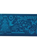 лак для ногтей скребок искусства Рождество Санта-Клаус лосей штамповка изображения пластины маникюрный набор инструмент трафарета