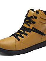 Men's Boots Fall Winter Others Leather Casual Lace-up Black Yellow White Others