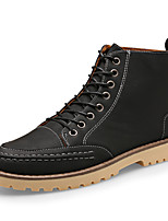 Men's Boots Comfort Leatherette Casual Black / Brown / Gray