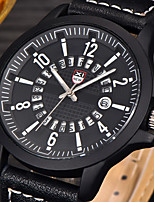XINEW Watches Mens Military Leather Date Quartz Wrist Watch