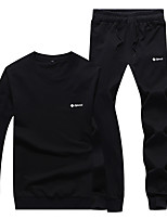 Running Tracksuit / Clothing Sets/Suits Unisex Long Sleeve Breathable / Soft / Comfortable Cotton Running Sports Wear StretchyIndoor /